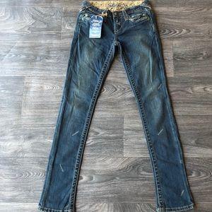 Stitch's Totem Skinny Jeans Trail Wash Size 27